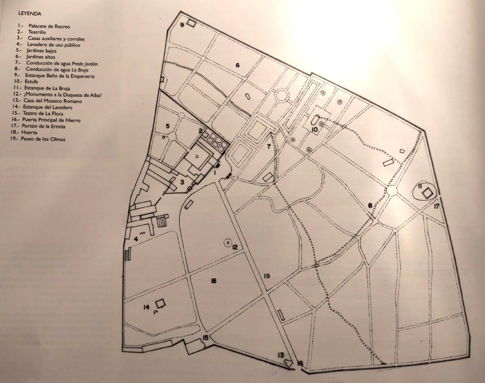 plano de la finca a mediados del siglo XIX
