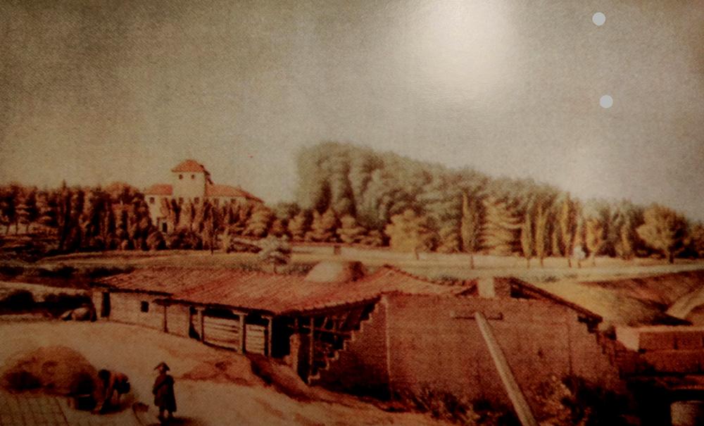 La Quinta de Miranda hacia 1820. Por Juan Mieg