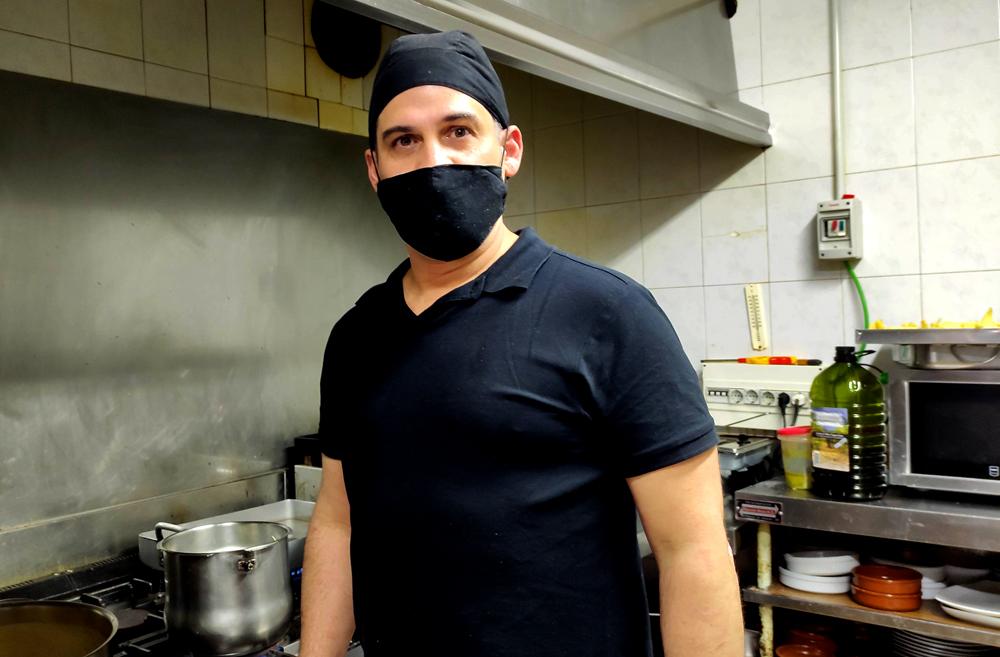 Gustavo, actual cocinero del Marrovi