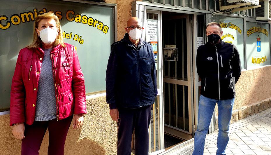 Tere Mayo, Andrés Navarro y Chema Rubio, las dos generaciones del Marrovi